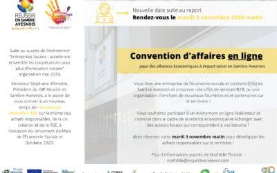 CONVENTION AFFAIRES EN LIGNE LE 3 NOVEMBRE 2020 MATIN