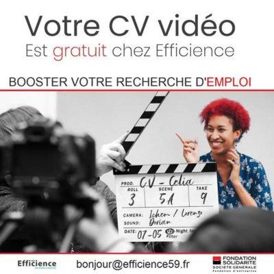 Votre CV Vidéo est gratuit avec Efficience !