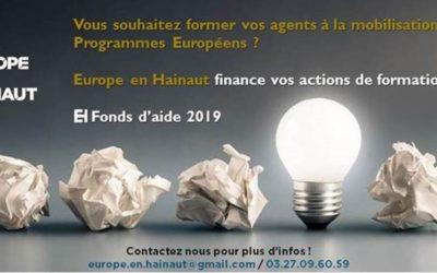 Europe en Hainaut finance vos actions de formation