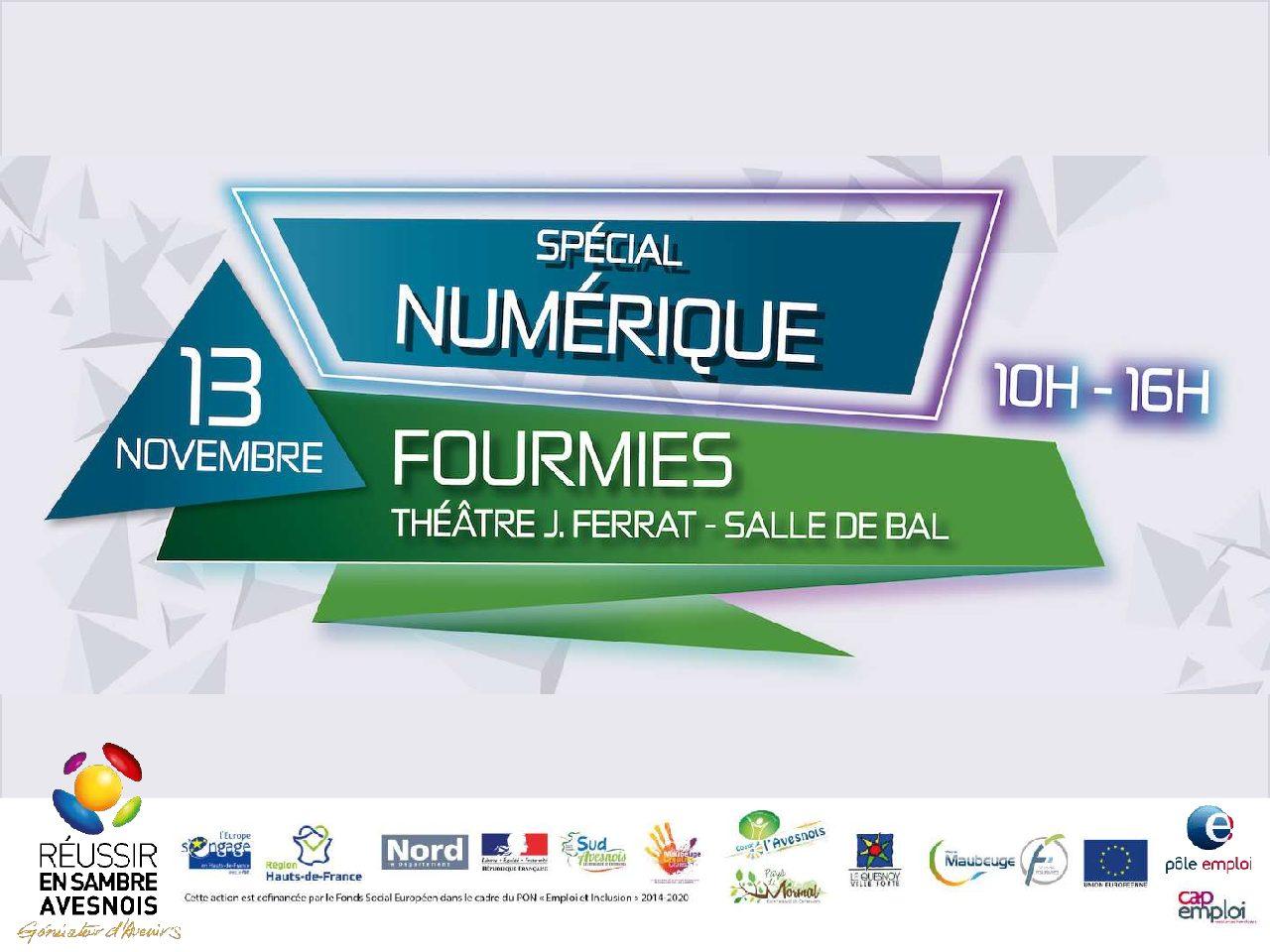 Job City Tour Numérique à Fourmies le 13 Novembre