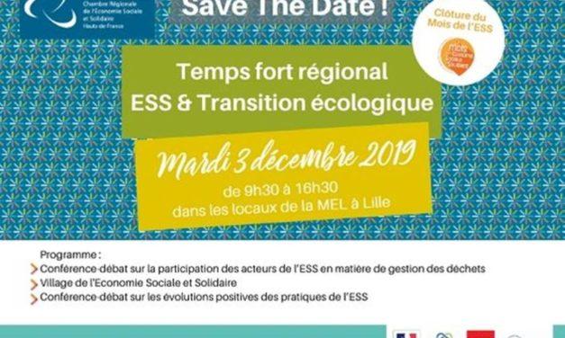 SAVE A DATE : TEMPS FORT REGIONAL ESS & TRANSITION ECOLOGIQUE