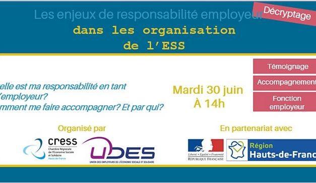 Webinaire : La responsabilité de l'employeur dans les organisations de l'ESS