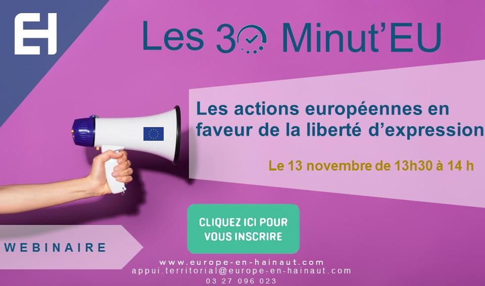 30 Minut'EU – Les actions européennes en faveur de la liberté d'expression