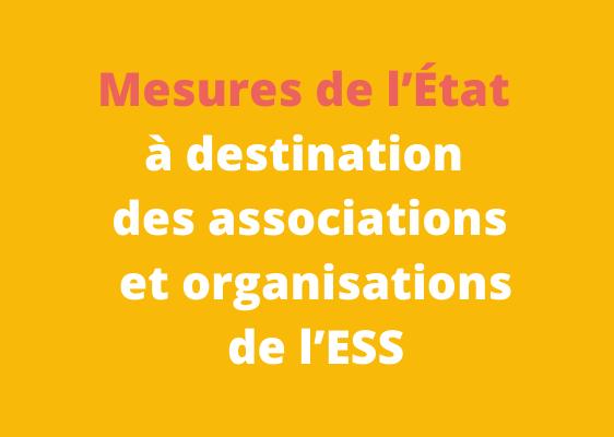 #COVID19 – MESURES D'AIDES DE L'ETAT
