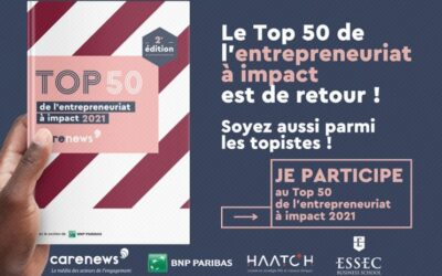 Participez au Top 50 de l'entrepreneuriat à impact 2021